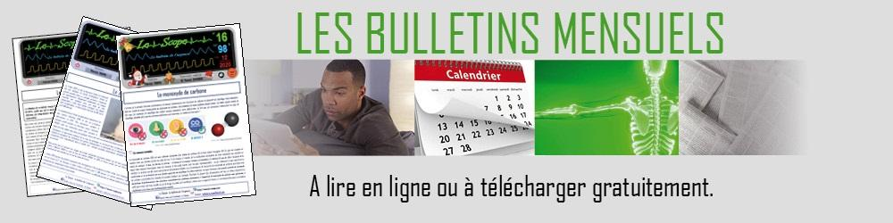 Carrousel bulletins mensuels vert